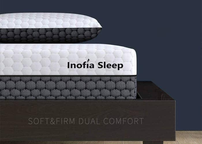 Inofia Sleep Double Memory Foam Mattress,2 in 1