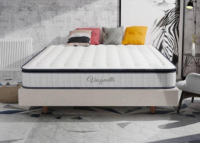 Vesgantti Upgraded Comfort Hybrid Mattress