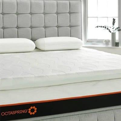 Octaspring topper on bed
