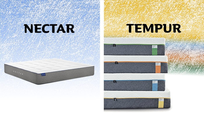Tempur vs nectar mattress comparison