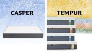 casper vs tempur mattress comparison