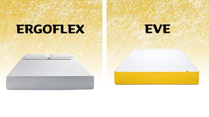 ergoflex vs eve mattress compare