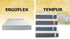 ergoflex vs tempur mattress comparison