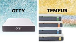 tempur vs OTTY mattress review UK