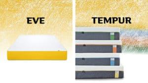 tempur vs eve mattress comparison