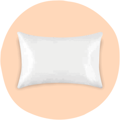 Silk snow white silk pillowcase