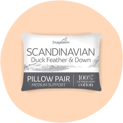 snuggledown duck feather and down white