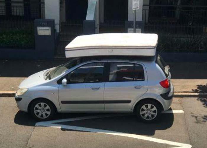 mattress on roof