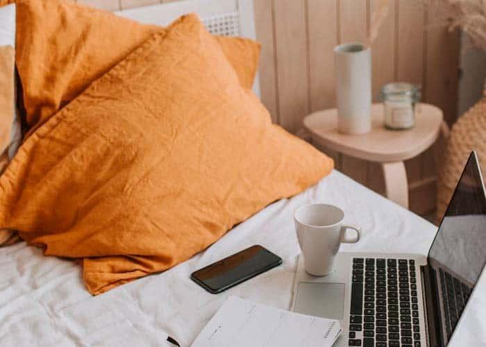 Sleep with phone under pillow