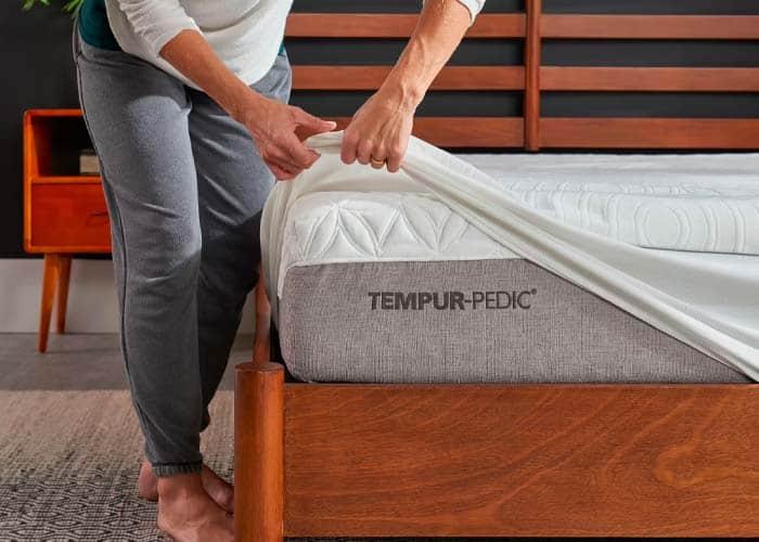sheets on tempur mattress
