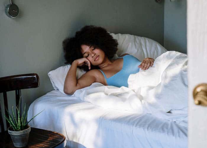sleeping on a memory foam mattress cooler